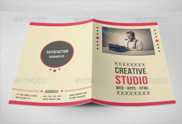 Retro Brochure Templates  Free Psd Eps Illustrator Ai Pdf