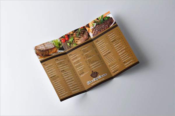 retro restaurant tri fold brochure