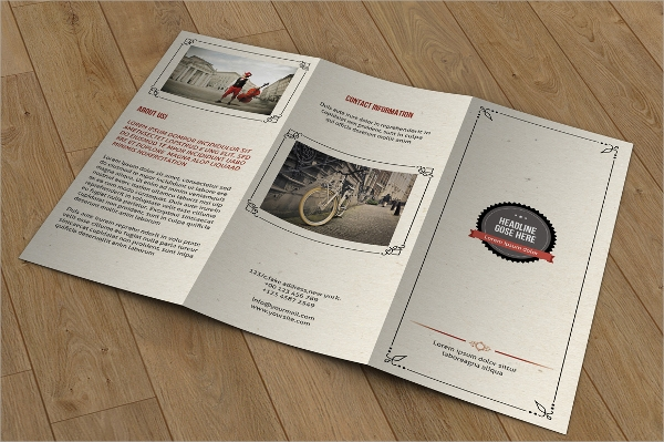 corporate brochure retro style