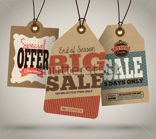 vintage sale tag template