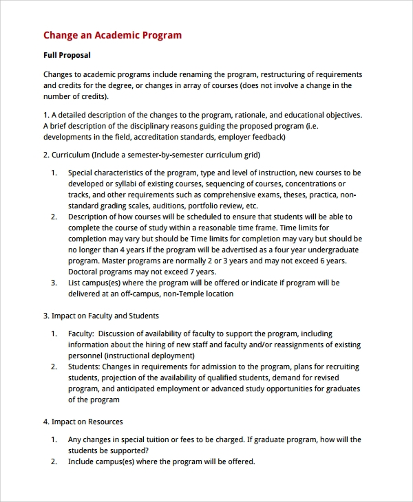 12 Academic Proposal Templates Sample Templates