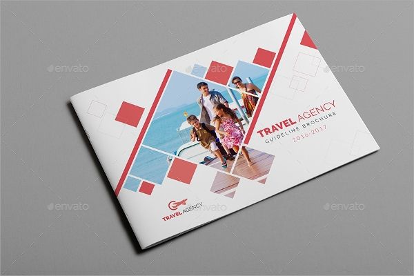 tourist brochure template design