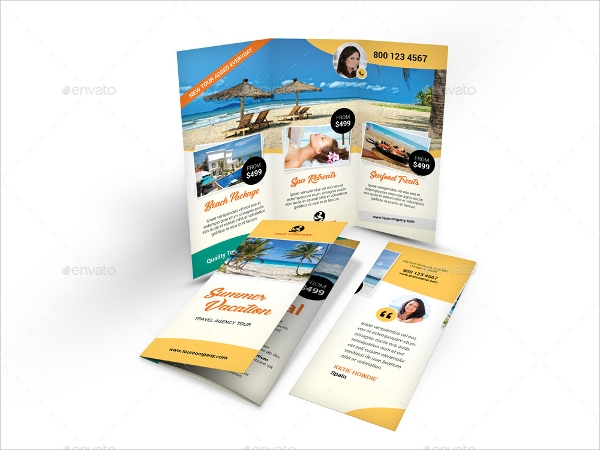 tourist brochure template psd