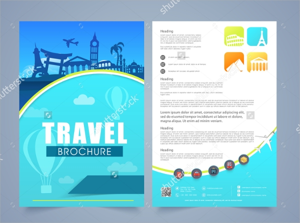 travel tourist brochure