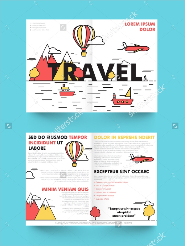 creative tourist brochure