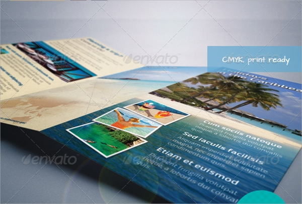 a4 tourist brochure template