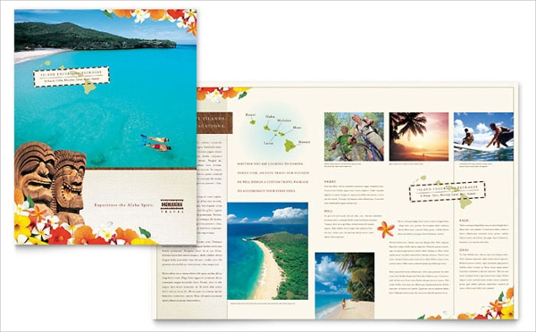 hawaii tourist brochure