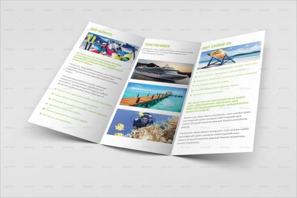 travel and tourism agency brochure template