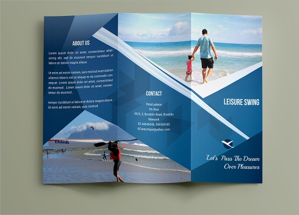 tourist trifold brochure