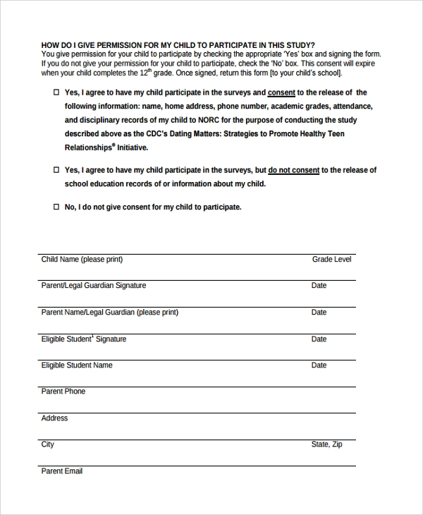 Survey Consent Form