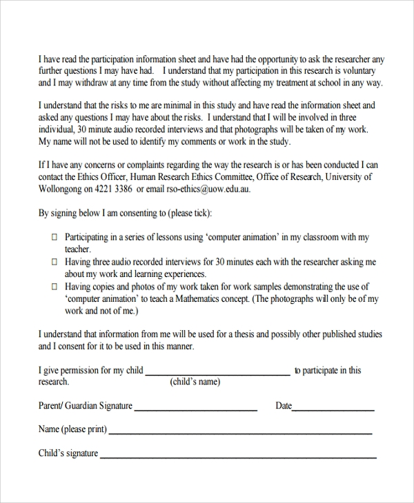 Sample Survey Consent Form - 9+ Free Documents Download In Pdf, Word
