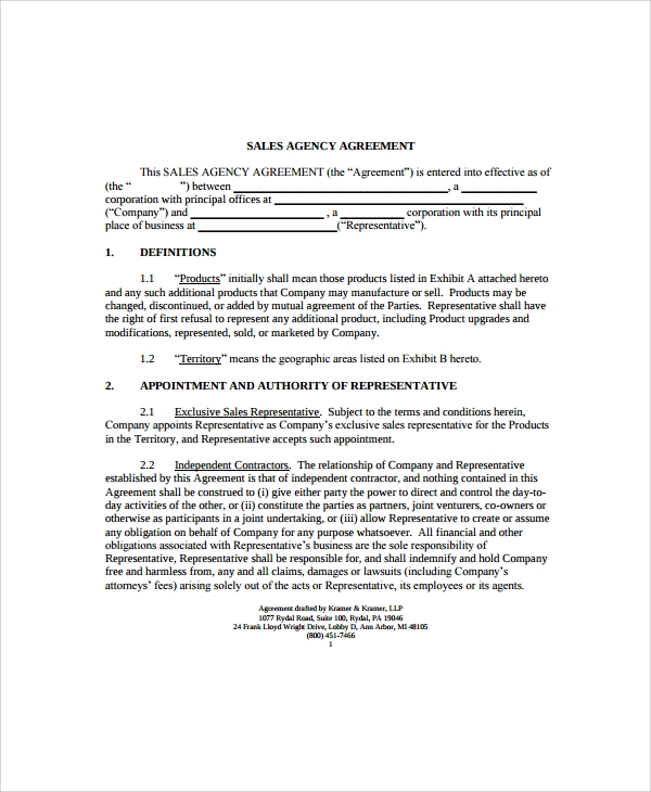 Sample business agency agreement 8 free documents in pdf word business broker agency agreement template pronofoot35fo Gallery