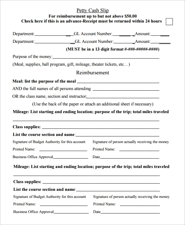 petty cash slip template1