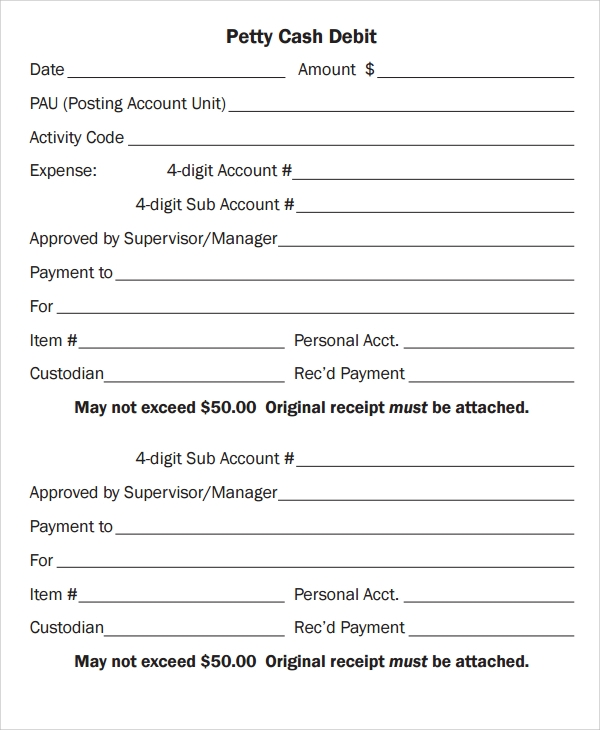 cash debit payslip template