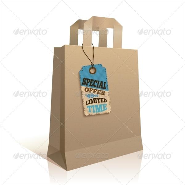 shopping paper bag tag