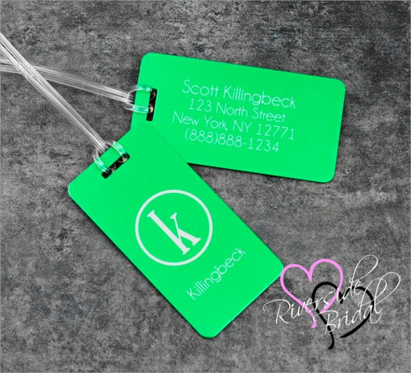 9 bag tag templates sample templates. Black Bedroom Furniture Sets. Home Design Ideas