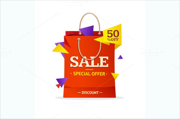 sale label paper bag