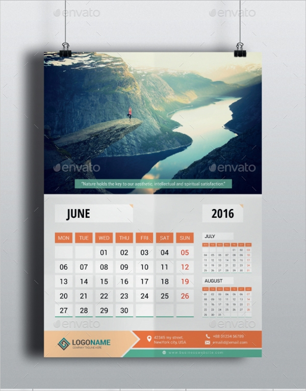 Sample Office Calendar Template 9 Download Documents in PSD