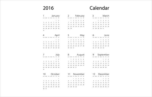 simple office calendar template1