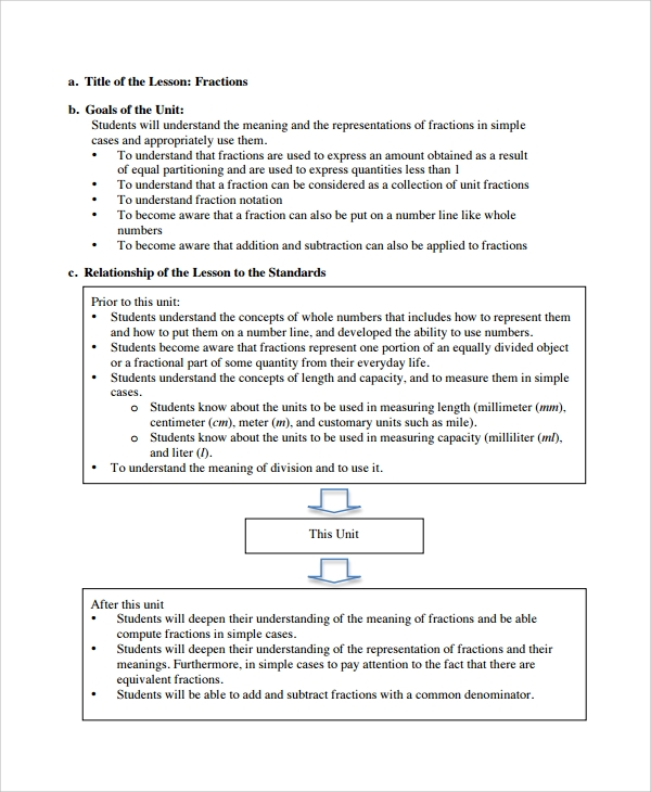 Sample Math Lesson Plan Template   Free Documents Download In