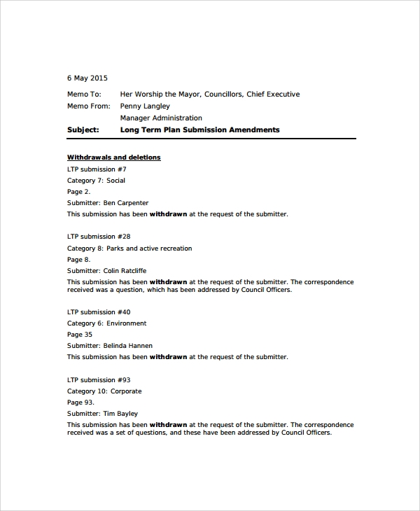 Sample Standard Memo Template   Free Documents Download In Word Pdf