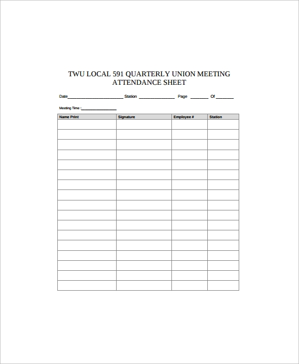 Free Employee Attendance Calendar 2016   Share The Knownledge
