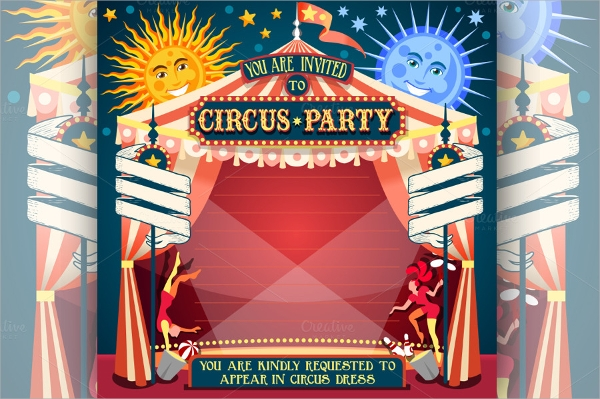 vintage circus invitation template