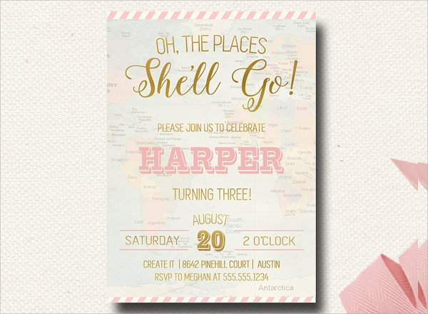 party vintage invitation template