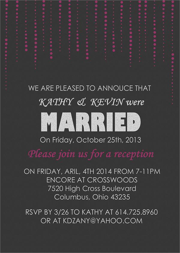 reception invitation template psd