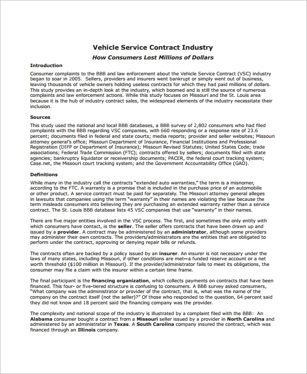 Sample Industry Contract Template - 5+ Free Documents Download In Pdf