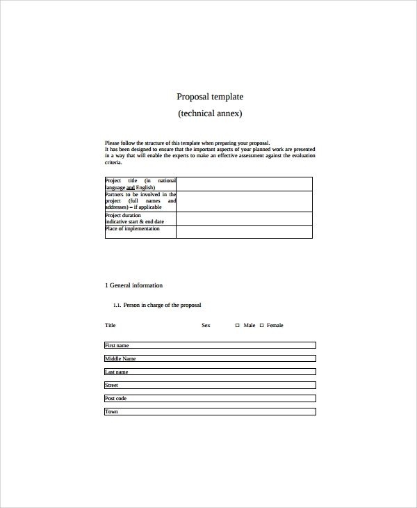 Sample IT Proposal Template 6 Free Documents Download in Word PDF – It Proposal Template
