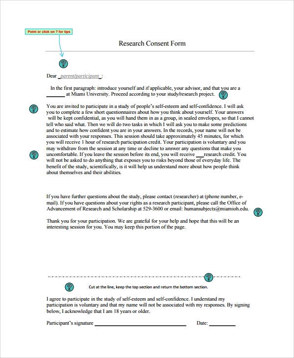 printable research consent form