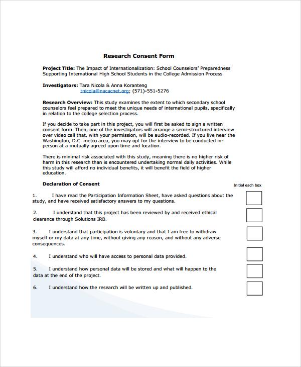 Vaccine Consent Form Templates