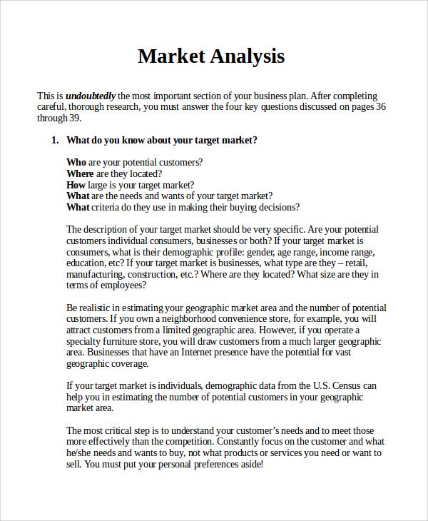 business plan market analysis example - Khafre