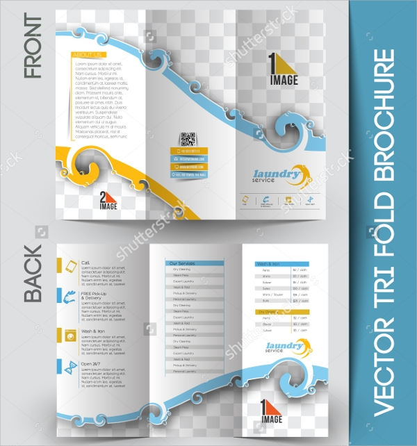 laundry services brochure