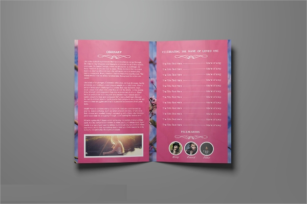 funeral services brochure