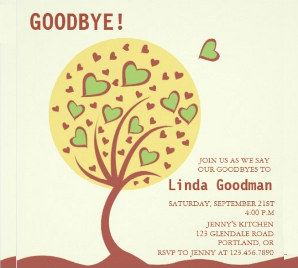 Farewell Party Invitation Template PSD Vector EPS – Farewell Party Invitation Letter