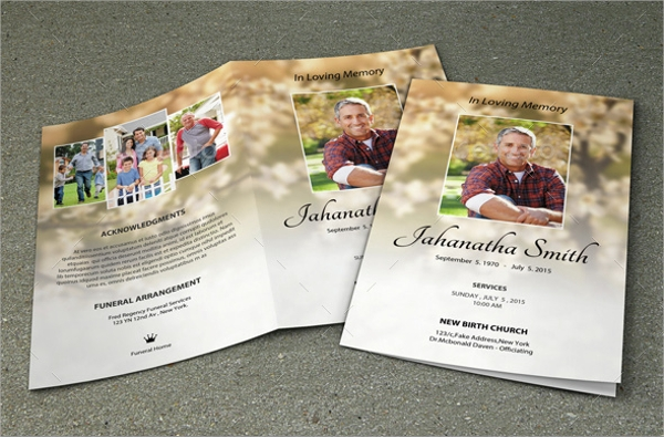 8 obituary program templates sample templates for Obituary pamphlet template