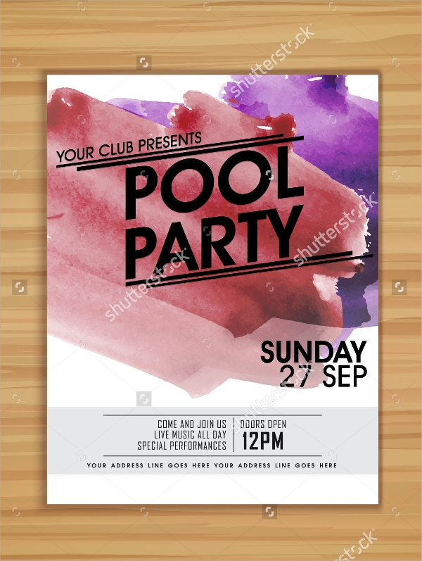 Pool Party Flyer Templates  Psd Free Eps Format Download