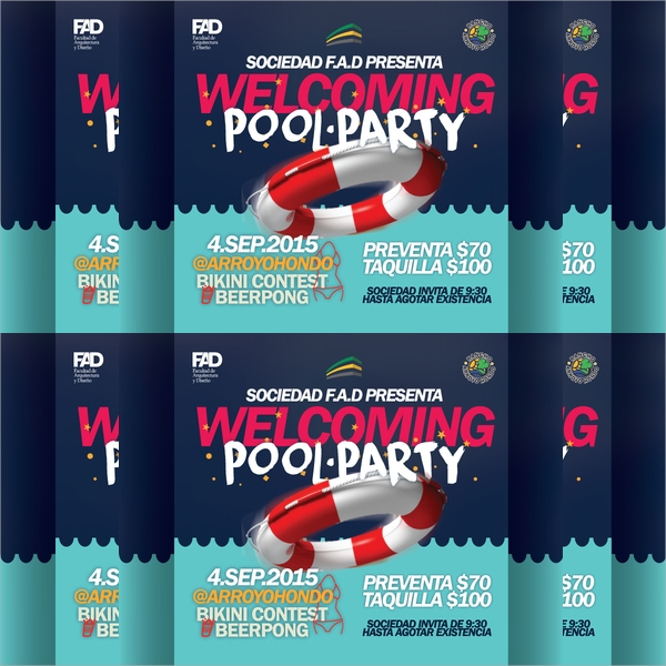 awesome pool party flyer