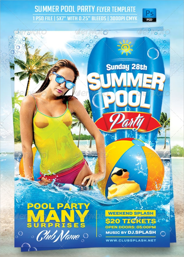 fabalous pool party flyer