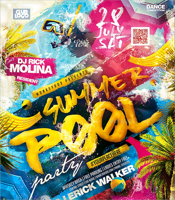 18+ Pool Party Flyer Templates | Sample Templates