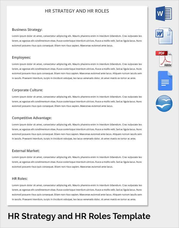 17 sample hr strategy templates sample templates hr strategy hr roles template cheaphphosting Image collections