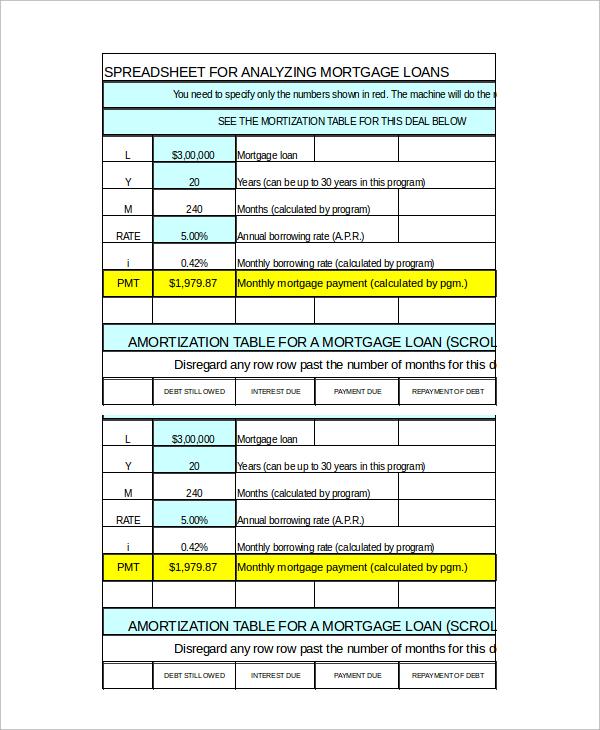 loan amortization calculator free