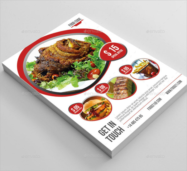 food business flyer template