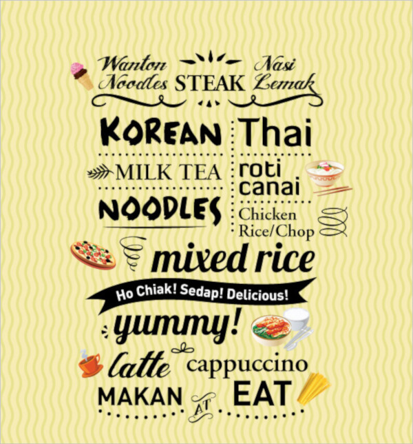 simple food flyer