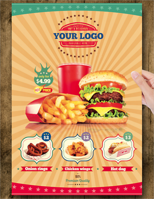 wonderful food flyer