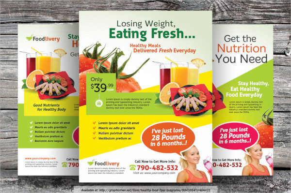 21 food flyer templates sample templates for Free food brochure templates