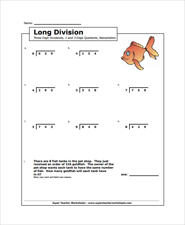 math worksheet : sample long division worksheet template  9 free documents  : Long Division Practice Worksheet