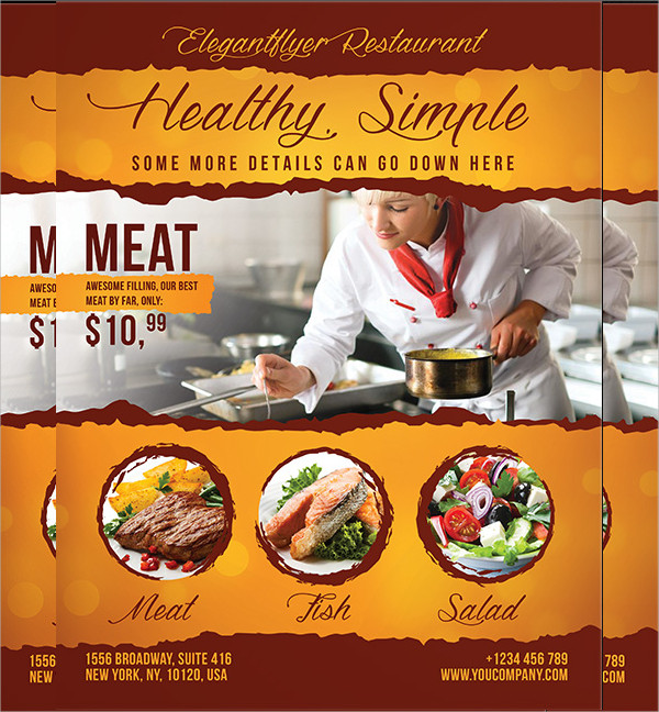 Food Flyer Templates  Psd Free Eps Format Download